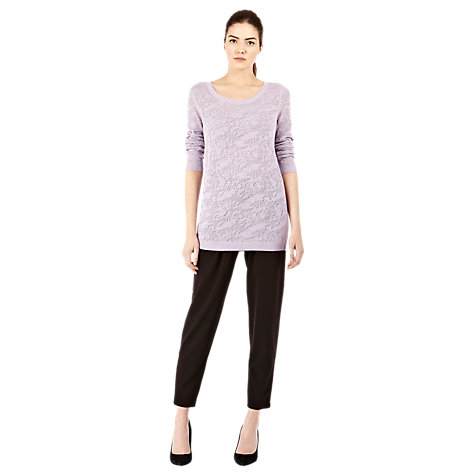 Buy Warehouse Pointelle Jumper, Lilac Online at johnlewis.com