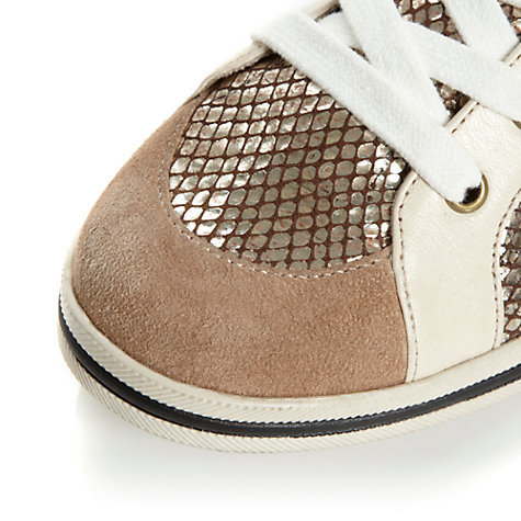 Buy Dune Lullaby Animal Print Leather Trainers Online at johnlewis.com