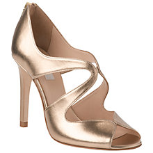 Buy L.K. Bennett Malibu Leather Stiletto Heel Peep-Toe Sandals, Soft Gold Online at johnlewis.com