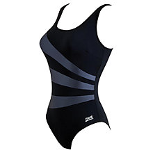 Buy Zoggs Sandon Scoop Back Swimsuit, Black/Azure Blue Online at johnlewis.com