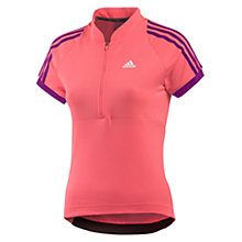 Buy Adidas Response Short Sleeve 1/2 Zip Jersey, Red/Purple Online at johnlewis.com