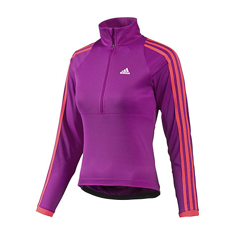 Buy Adidas Women's Response Long Sleeve 1/2 Zip Jersey, Purple/Red Online at johnlewis.com
