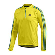 Buy Adidas Response Long Sleeve Cycling Jersey, Yellow/Green Online at johnlewis.com