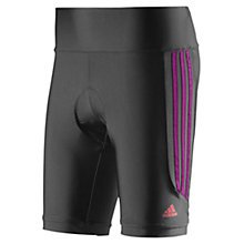 Buy Adidas Response Cycling Shorts, Black/Purple Online at johnlewis.com