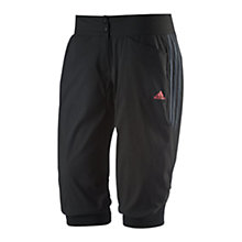 Buy Adidas Response 3/4 Elasticated Cycling Shorts, Black Online at johnlewis.com