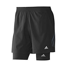 Buy Adidas 2 In 1 Cycling Shorts, Black Online at johnlewis.com