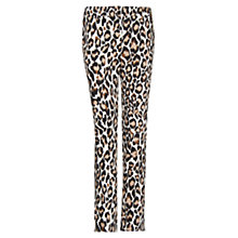 Buy Mango Animal Print Trousers, Camel Vigore Online at johnlewis.com