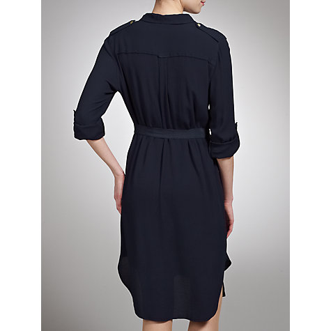 Buy Ghost Dena Belted Long Shirt Dress, Indigo Online at johnlewis.com