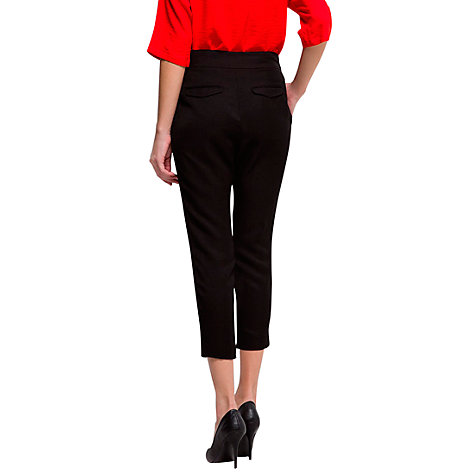 Buy Mango Wrapped Tapered Trousers, Black Online at johnlewis.com