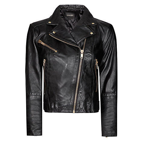 Buy Mango Perfecto Leather Jacket Online at johnlewis.com