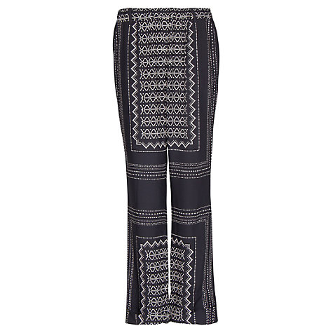 Buy Mango Geometric Print Trousers, Coal Online at johnlewis.com