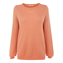 Buy Oasis Sprinkle Sweatshirt, Coral Online at johnlewis.com
