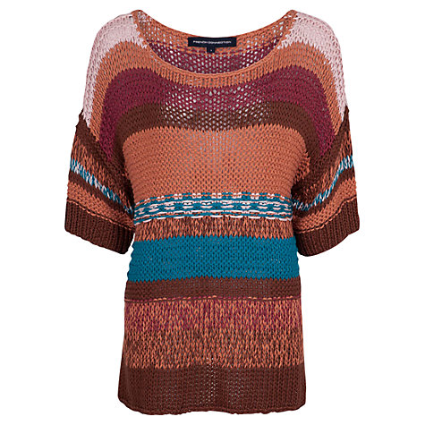 Buy French Connection Joy Ride Knitted Jumper, Multi Online at johnlewis.com