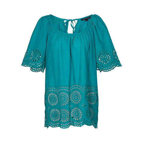 Buy French Connection Lady Solitude Top, Bali Blue Online at johnlewis.com