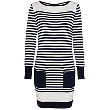 Buy Kaliko Striped Jumper Dress, Navy/Multi Online at johnlewis.com