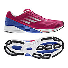 Buy Adidas Women's Adizero Feather Running Shoes, Pink/Blue Online at johnlewis.com