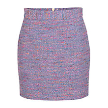 Buy French Connection Rainbow Boucle Mini Skirt, Blue/Pink Online at johnlewis.com