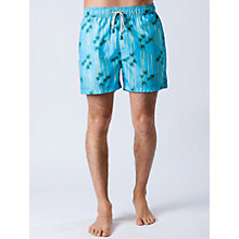 Buy Oiler & Boiler Palm Swim Shorts, True Blue Online at johnlewis.com