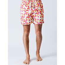 Buy Oiler & Boiler Parrots Swim Shorts, Yellow Online at johnlewis.com