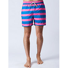 Buy Oiler & Boiler Wide Hoop Swim Shorts, Pink/Blue Online at johnlewis.com