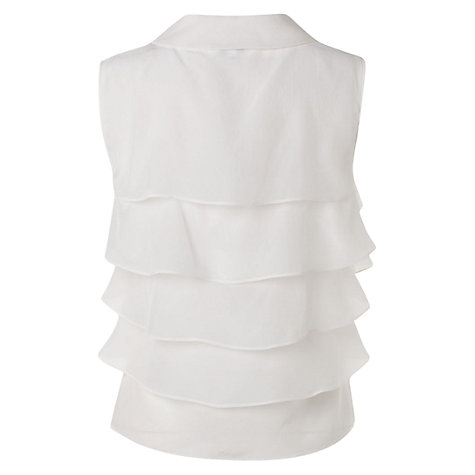 Buy Hobbs Invitation Tiara Blouse, Ivory Online at johnlewis.com