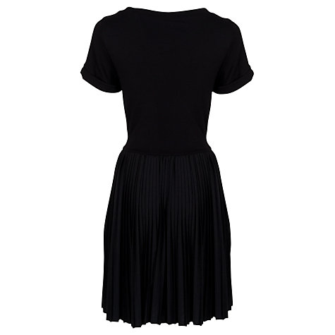 Buy French Connection T-Penny Pleats Dress, Black Online at johnlewis.com