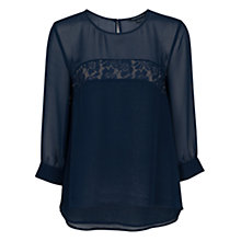 Buy French Connection Spring Lace Top, Nocturnal Online at johnlewis.com