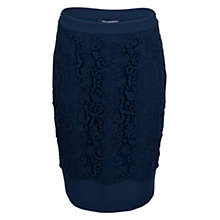 Buy French Connection Loving Crochet Pencil Skirt, Nocturnal Online at johnlewis.com