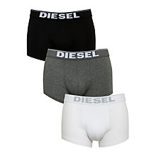 Buy Diesel Kory Logo Trunks, Pack of 3 Online at johnlewis.com