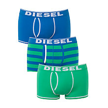Buy Diesel Fresh & Bright Divine Plain and Stripe Trunks, Pack of 3 Online at johnlewis.com