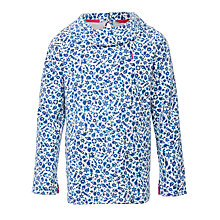 Buy Little Joule Girls' Connick Sweatshirt, Ditsy Blue Online at johnlewis.com