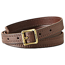 Buy Fossil Skinny Boyfriend Leather Belt Online at johnlewis.com