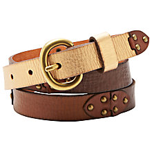 Buy Fossil Colorblock Leather Jeans Belt Online at johnlewis.com