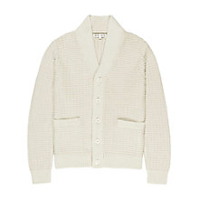 Buy Reiss Milton Textured Cotton Shawl Cardigan Online at johnlewis.com