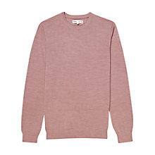 Buy Reiss Rodman Crew Neck Jumper, Rose Online at johnlewis.com