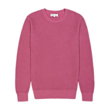 Buy Reiss Jenga Textured Cotton Crew Neck Jumper Online at johnlewis.com
