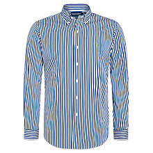 Buy Polo Golf by Ralph Lauren Custom Fit Shirt, Royal/White Online at johnlewis.com