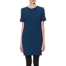 Buy Whistles Scallop Hem Dress, Teal Online at johnlewis.com