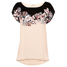Buy Oasis Midnight Garden Placement T-Shirt, Multi/Natural Online at johnlewis.com