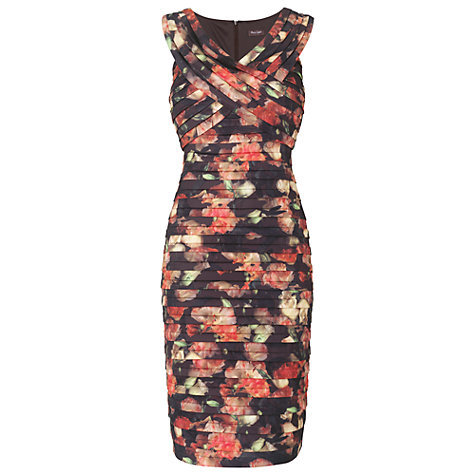Buy Phase Eight Rose Pleat Dress, Peony/Truffle Online at johnlewis.com