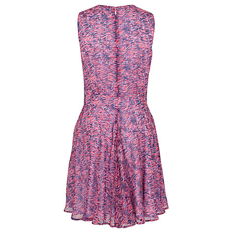 Buy French Connection Crazy Creation Flared Dress, Cobalt/Multi Online at johnlewis.com