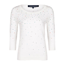 Buy French Connection Friday Fix Jumper, Daisy White Online at johnlewis.com