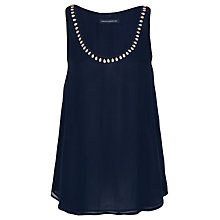 Buy French Connection Charming Silk Vest, Blueblood Online at johnlewis.com