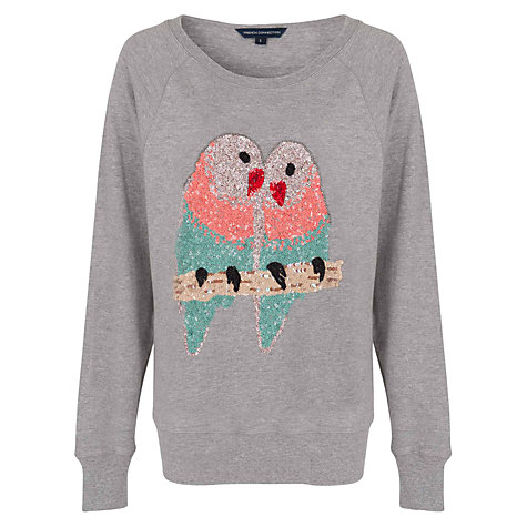 Buy French Connection Lovebird Jumper, Grey Online at johnlewis.com