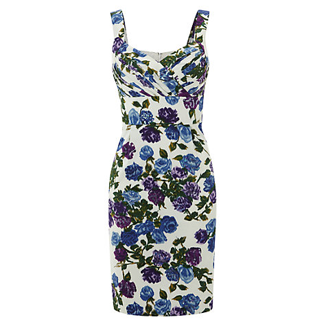 Buy Hobbs Invitation Pippa Dress, Ivory/Blue Online at johnlewis.com
