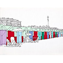 Buy Gillian Bates - Beach Huts Bright Online at johnlewis.com