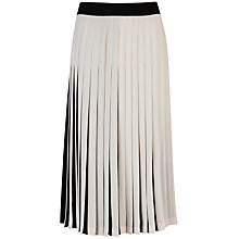 Buy Ted Baker Popii Pleated Skirt, Black/Ivory Online at johnlewis.com