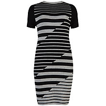 Buy Ted Baker Leya Striped Intarsia Dress, Black Online at johnlewis.com