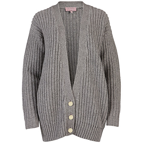 Buy Ted Baker Nitka Chunky Cardigan, Grey Marl Online at johnlewis.com