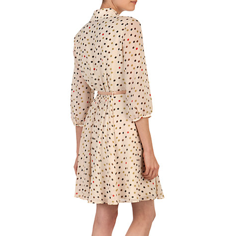 Buy Ted Baker Polka Dot Shirt Dress, Nude Pink Online at johnlewis.com